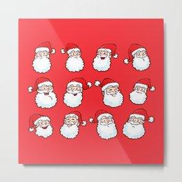 12 Santas Metal Print