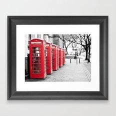 Vintage Red  Framed Art Print