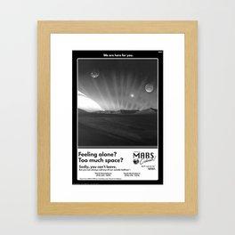 Mars Colonies II Framed Art Print