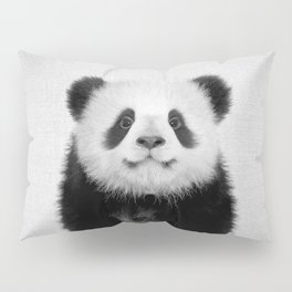 Panda Bear - Black & White Pillow Sham