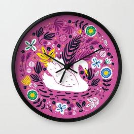 Delightful Swan Wall Clock