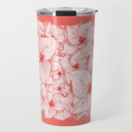coral flower Travel Mug