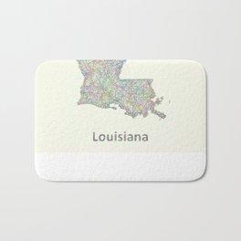 Louisiana map Bath Mat