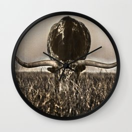 Old Photo of Longhorn Wall Clock