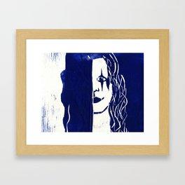 Brandon Lee Blue Framed Art Print
