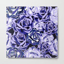 Beautiful Violet Roses Metal Print