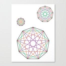 Nonagon Triad Canvas Print