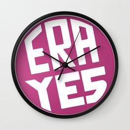 ERA YES (Pink) Wall Clock