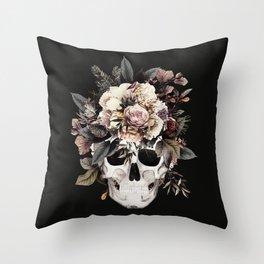 Sugar Skull (Winter) Throw Pillow