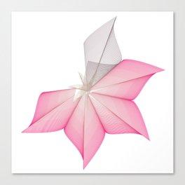 linear flower Canvas Print