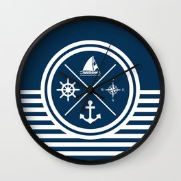 Sailing symbols Wall Clock