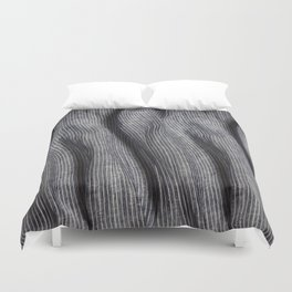 Striped linen textile Duvet Cover