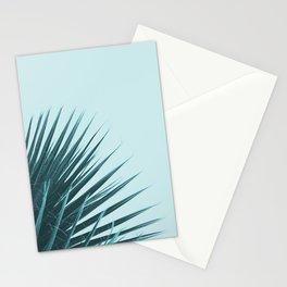 Blue Palm Leaf Stationery Cards