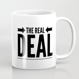 THE REAL DEAL, Black Graphic Text Design Coffee Mug