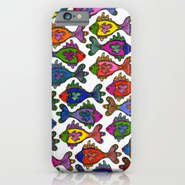 Many Frilly Fish iPhone Case