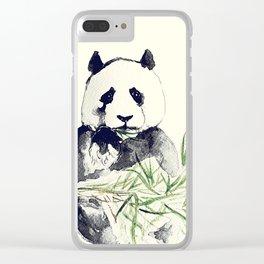Giant Panda Clear iPhone Case