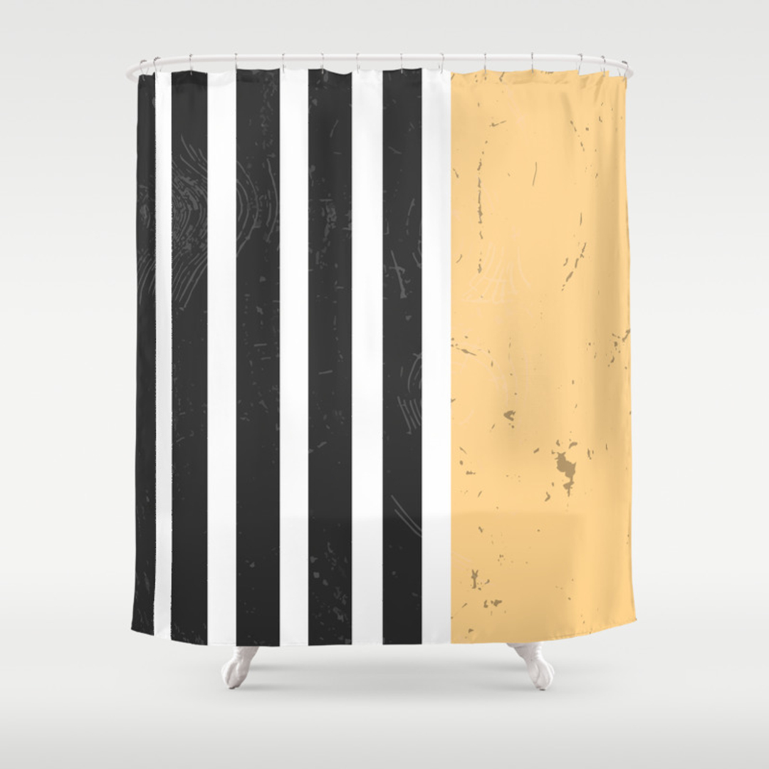Yellow Striped Shower Curtains An Amazing Kidsu0027 Bathroom Remodel Yellow And White Stripe