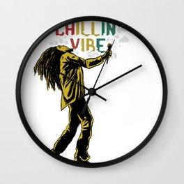 Man with dreadlocks Wall Clock
