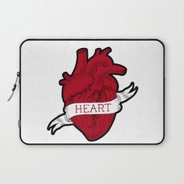 Human heart  tattoo style Laptop Sleeve