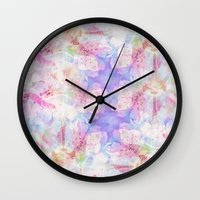 transparent Wall Clocks featuring TRANSPARENT VEILS by INA FineArt