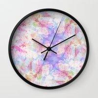 transparent Wall Clocks featuring TRANSPARENT VEILS by VIAINA