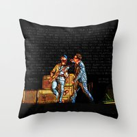 u2 Throw Pillows featuring U2 / Bono / Edge / Until The End Of The World by JR van Kampen
