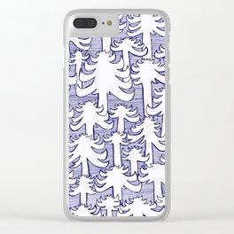 Fondo Araucarias Clear iPhone Case