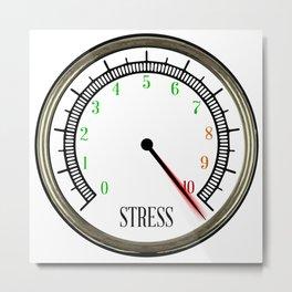 Stress Meter Metal Print