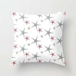 Fishtales: Starfish 3 pattern 1 Throw Pillow