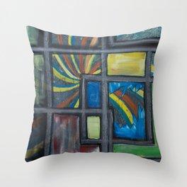 Windows to anxiety Throw Pillow