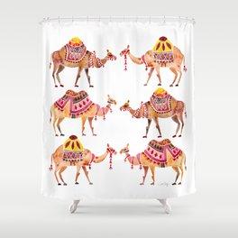 Camel Train Shower Curtain