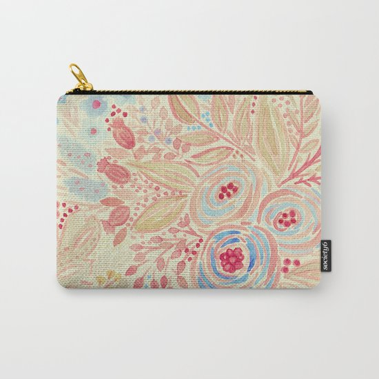 Watercolor .Flower meadow . Carry-All Pouch