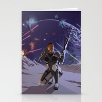 n7 Stationery Cards featuring Mass Effect 3- Infiltrator Propaganda by Joe Byrne
