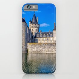 Famous medieval castle Sully sur Loire at sunset, Loire valley, France. iPhone Case