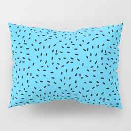 Strawberry Seeds | Blue Pillow Sham
