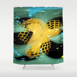 DS FS Hex And Green S6 Shower Curtain