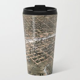 Bird's eye view of the city of Des Moines - Iowa - 1868 Travel Mug