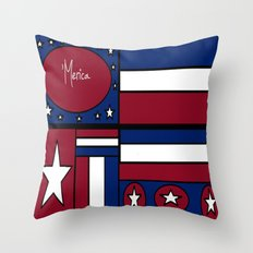 'Merica! Throw Pillow