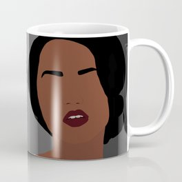 Mia - minimal, abstract portrait of an African American woman Coffee Mug