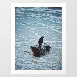 Hello Sea Lion Art Print