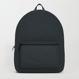 Solid Gunmetal Black html Color Code #2C3539 Backpack