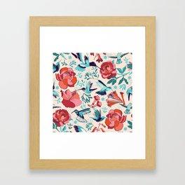 Hummingbird summerdance Framed Art Print