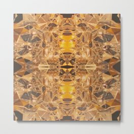 Copper Mirror Tessellation Metal Print