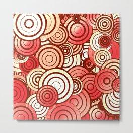 Layered random circles Metal Print