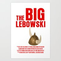 the big lebowski Art Prints featuring BIG LEBOWSKI by FunnyFaceArt