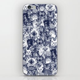 CHRISTMAS CATS blue iPhone Skin