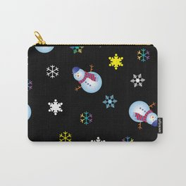 Snowflakes & Snowman_E Carry-All Pouch