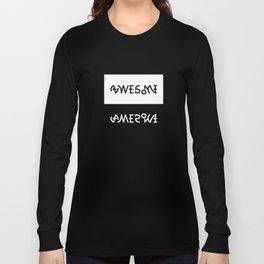 AWESOME AMERICA ambigram Long Sleeve T-shirt