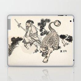 Old Man & Ankylosaurus Laptop & iPad Skin