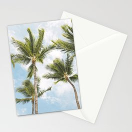 Palm Tree Print Stationery Cards